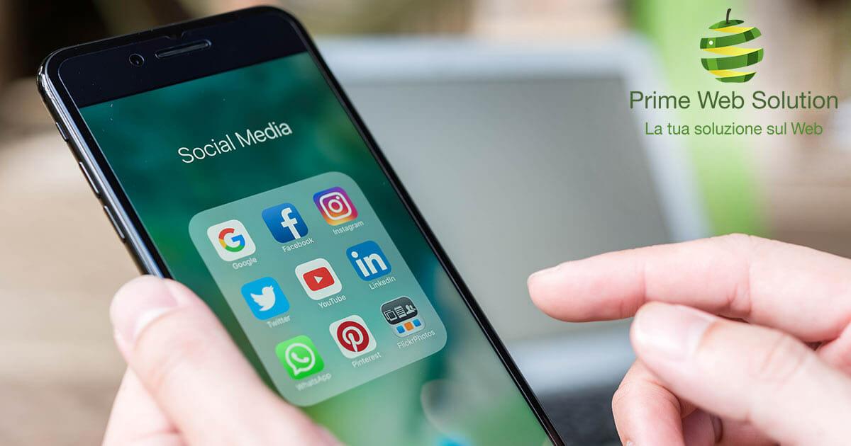 Utilizzo dei social media